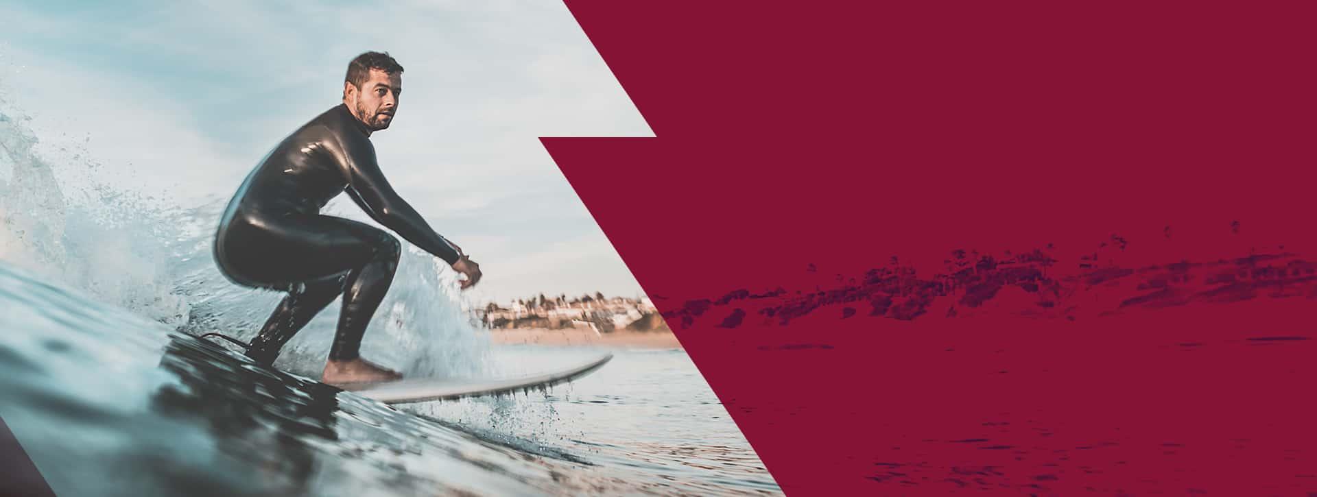Viaje de verano y suplementación, surf